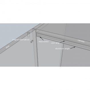LED strip lighting kit for cabinet diagram