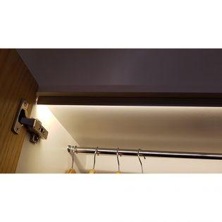 LED strip lighting kit installed in wardrobe