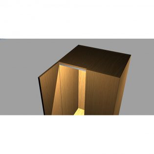 LED strip lighting kit installed in cabinet