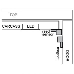 LD1404 reed sensor installed diagram