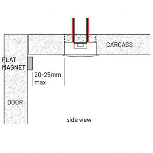 LD2022 recessed with flat magnet