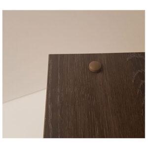 dark brown magnet on door