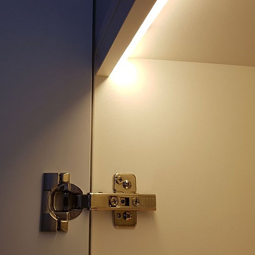 door activated pelmet light