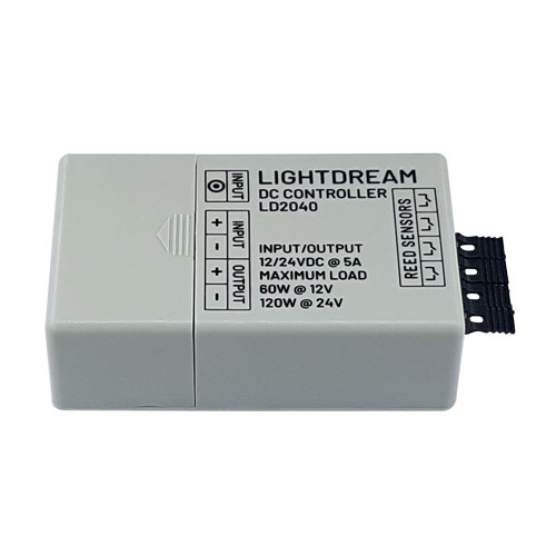 LD2040 DC controller for controlling LED lights in cabinets and closets