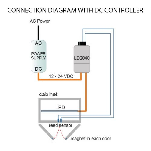 reed sensor connection diagram with dc controller