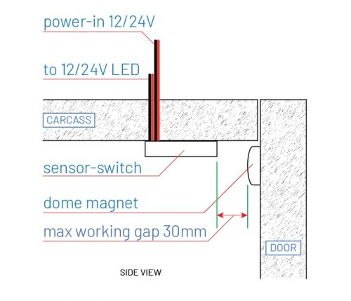 LD2024 sensor switch with dome magnet