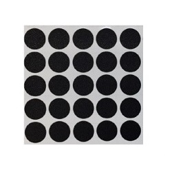 black stickers sheet of 25